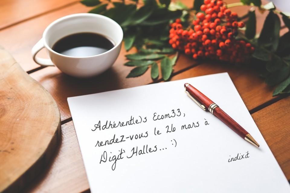 photo lettre café rendez-vous
